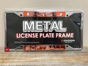 BGSU Softball License Plate Frame