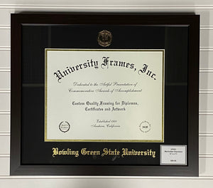 University Frames Manhattan Espresso with Gold Foil Seal