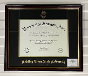 University Frames Petite Mahogany with Gold Foil Seal