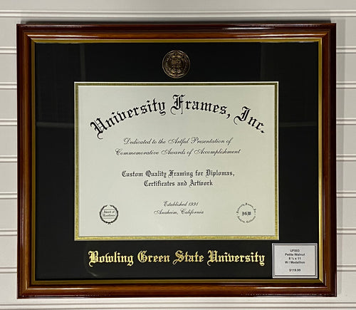 University Frames Petite Walnut with Gold Medallion