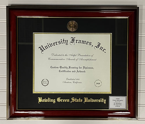 University Frames Classic Mahogany with Gold Medallion