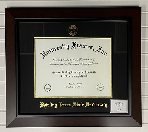 University Frames Legacy Black Cherry with Gold Foil Seal