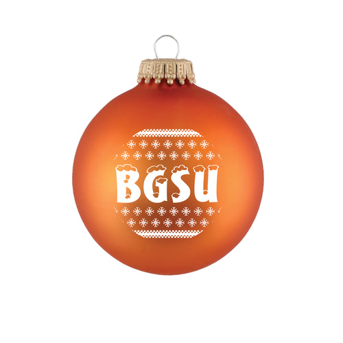 Spirit Orange Glass Ball Ornament