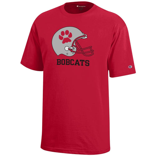 Champion Youth BG Bobcats SS Helmet Tee
