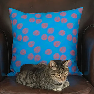 0fc2d792d04 Shweshwe   linen cushion cover 50x50cm Three Cats South African textiles