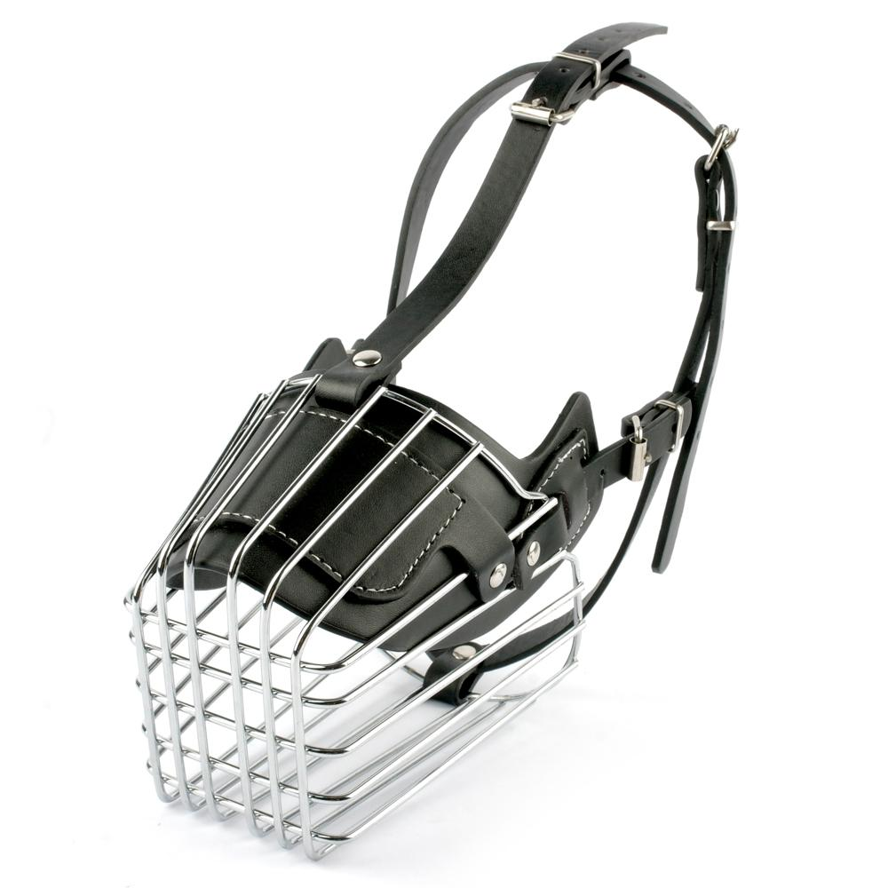 Black/Brown Cage Dog Muzzle