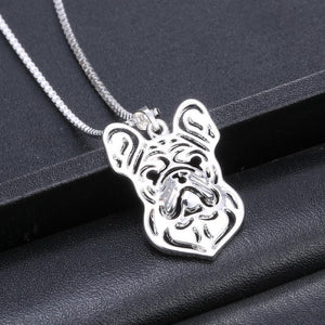French Bulldog Mug Shot Necklace