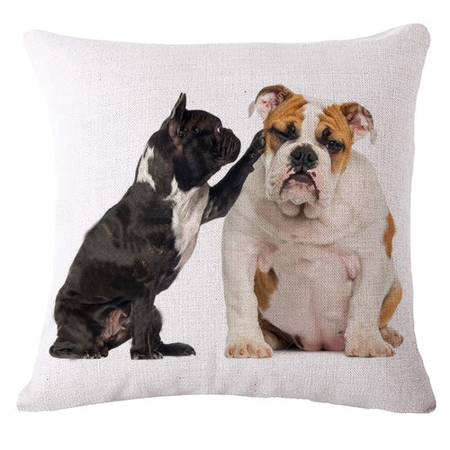 Pillow(HD017) Best Buds.. French Bulldog and English Bulldog