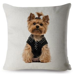 "Pillow(HD027) ""Look whos ready to go with you"".. Yorkshire Terrier"