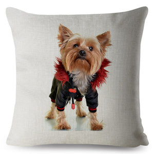 "Pillow(HD028) ""You said the 80's were back??  Yorkshire Terrier"