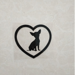 My Heart Chihuahuas Vinyl Decal