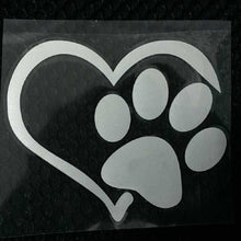 """Paw Prints on My Heart"" Vinyl Decals"