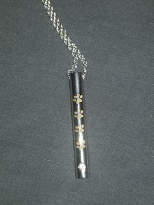 Cylinder 4 Paw Cremation Necklace(DS013)