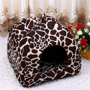 Fleece Leopard Print Cave