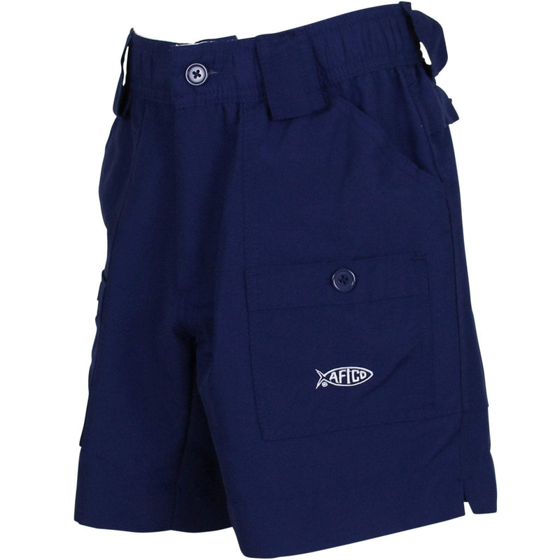 AFTCO MFG Boy's Shorts Aftco Youth Original Fishing Shorts - Navy || David's Clothing