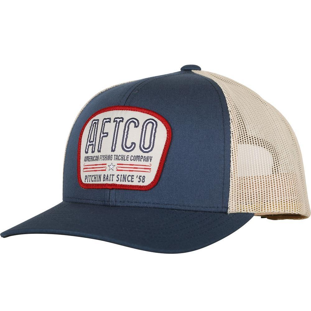 AFTCO MFG Men's Hats DEEP NAVY Aftco Waterborne Trucker Hat || David's Clothing MC1024DNVY