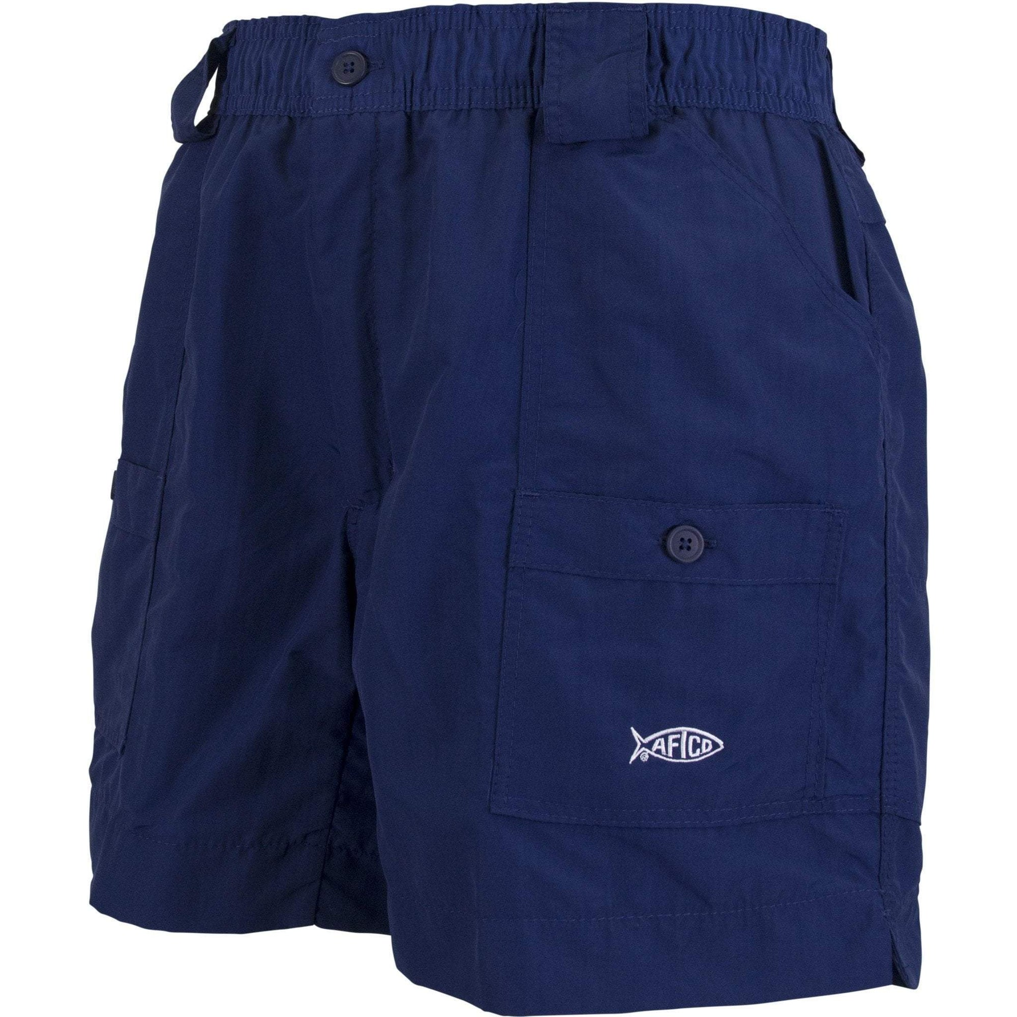 "AFTCO MFG Men's Shorts Aftco Original Fishing Shorts 6"" - Navy 