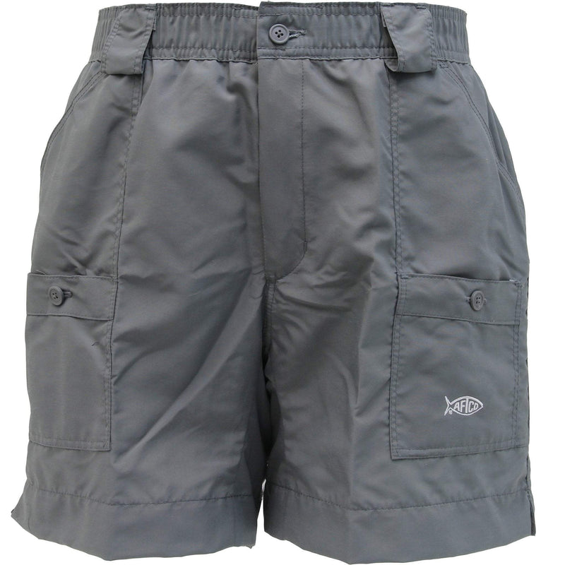 AFTCO MFG Men's Shorts AFTCO Original Fishing Shorts - Charcoal || David's Clothing