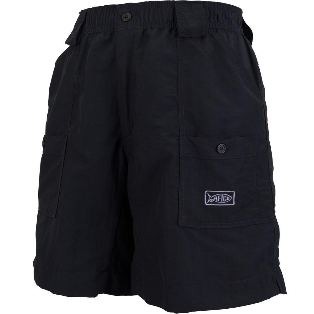 AFTCO MFG Men's Shorts Aftco Original Fishing Shorts Long - Black || David's Clothing