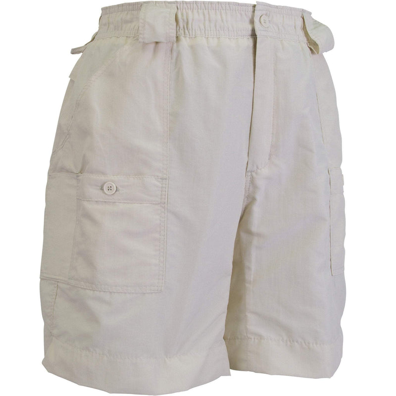 AFTCO MFG Men's Shorts AFTCO Original Fishing Shorts Long -Natural || David's Clothing