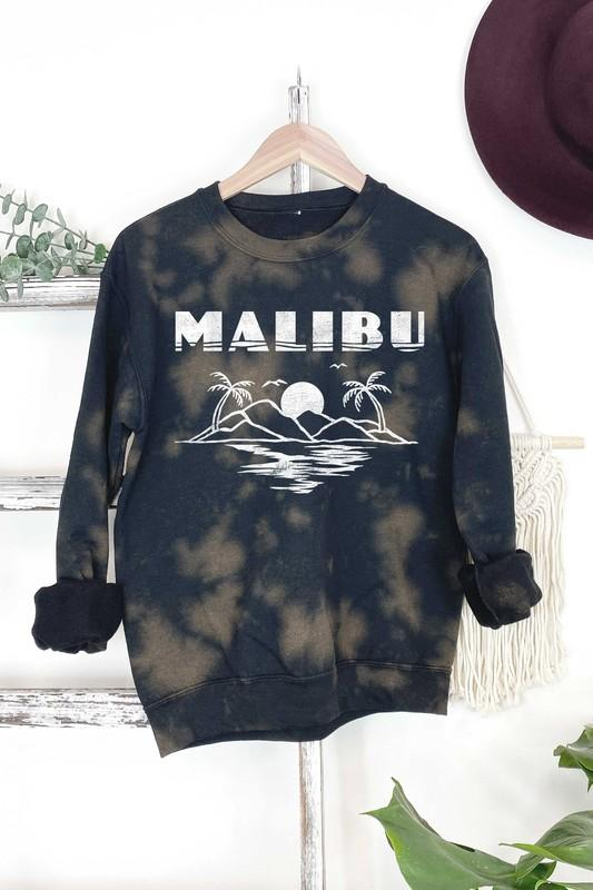 Benie Los Angele Women's Sweater Malibu Graphic Sweatshirt || David's Clothing