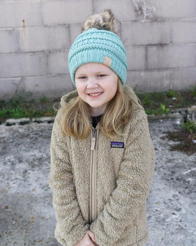 CC Beanies Girl's Hat CC Beanie Girl's Fur Pom Beanie || David's Clothing