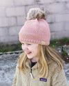 CC Beanies Girl's Hat Indi Pink / one size CC Beanie Kids Rhinestone Star Fur Pom Beanie || David's Clothing 721673