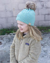 CC Beanies Girl's Hat Mint / one size CC Beanie Kids Rhinestone Star Fur Pom Beanie || David's Clothing 721674