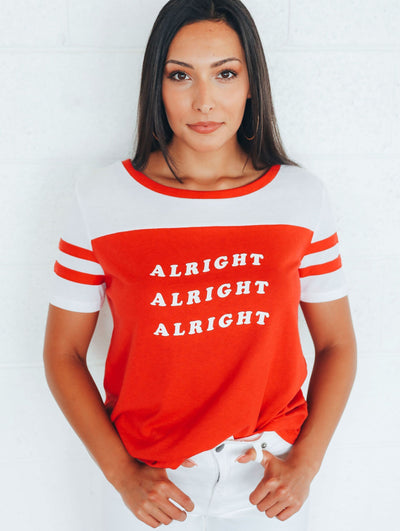 Charlie Southern Women's Tees Charlie Southern Alright Alright Alright New Jersey | David's Clothing