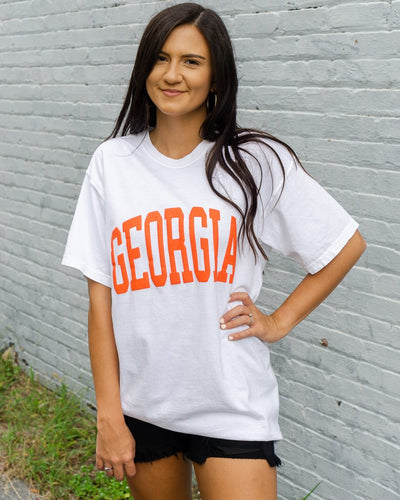 CHARLIE SOUTHERN Women's Tees Charlie Southern Georgia Jersey Tee || David's Clothing