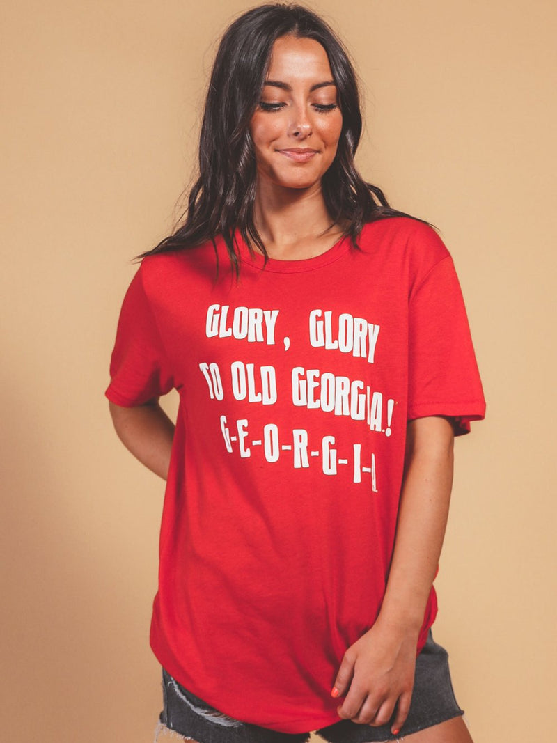 CHARLIE SOUTHERN Women's Tees Charlie Southern Uga Georgia Fight Song Tee || David's Clothing
