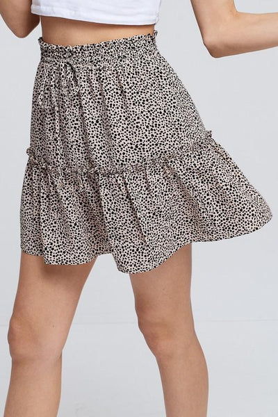 CRESCENT 26-Women's Skirts Harper Floral Print Mini Skirt || David's Clothing