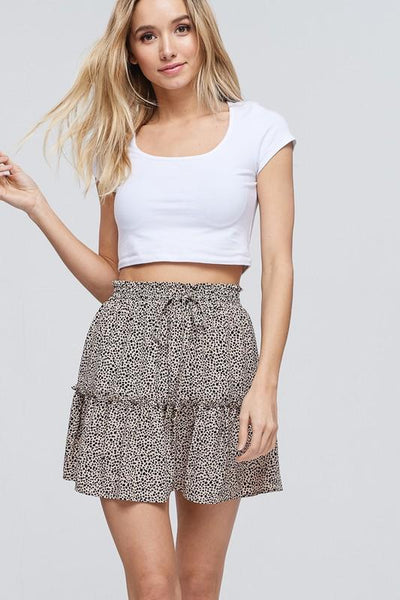 CRESCENT 26-Women's Skirts MOCHA / S Harper Floral Print Mini Skirt || David's Clothing CS5433-3