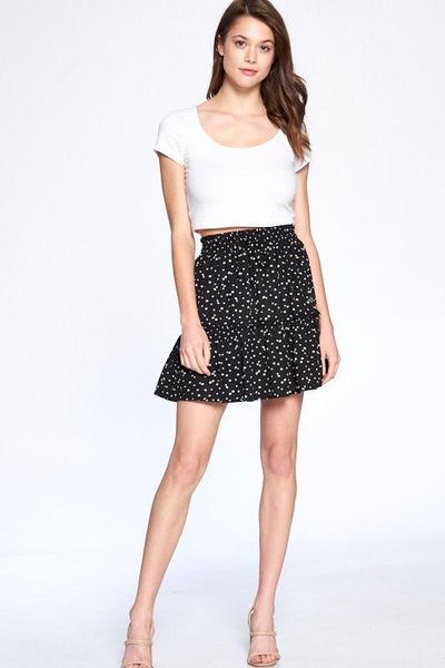 CRESCENT Women's Skirts Harper Floral Print Mini Skirt || David's Clothing
