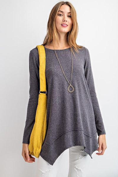 EASEL 21-Women's Knit Top MID GREY / S ET10638