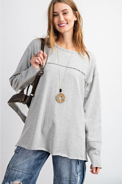 EASEL Women's Top H GRAY / S ET15404