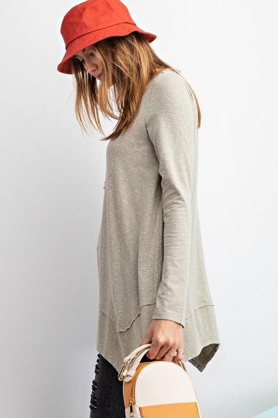 EASEL Women's Top Sharkbite Tunic Top || David's Clothing