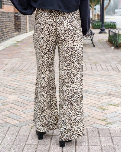 ENTRO INC Women's Pants Leopard Print Paperbag Waist Pants || David's Clothing