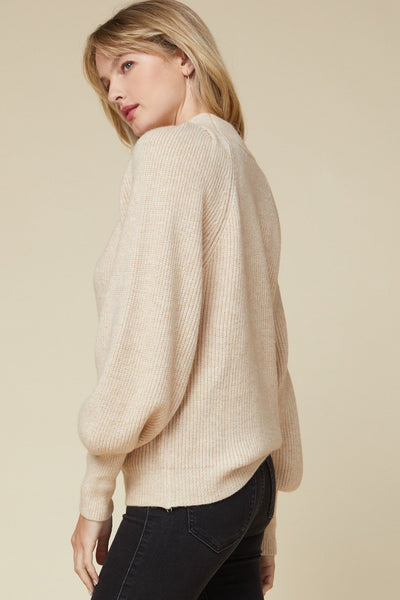 ENTRO INC Women's Sweater Solid Ribbed Mock Neck Sweater || David's Clothing