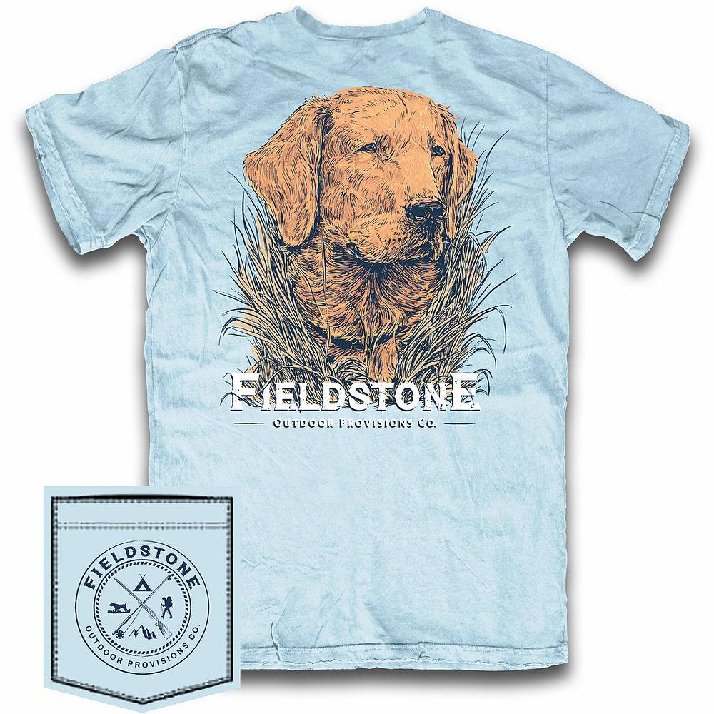 FIELDSTONE Kid's Tees Fieldstone Youth Golden Retriever Tee || David's Clothing