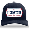 FIELDSTONE Men's Hats BLUE/WHITE Fieldstone Patriotic Patch Trucker Hat || David's Clothing PATRIOTIC