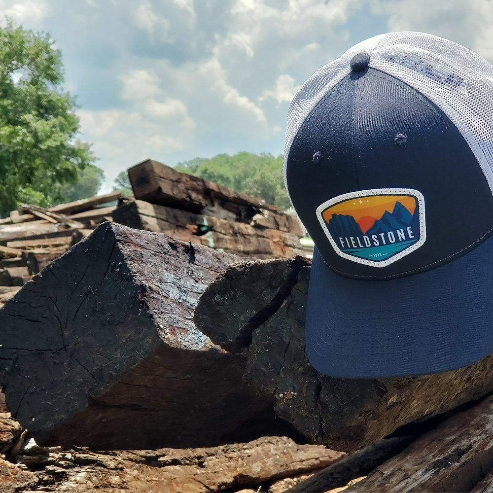 FIELDSTONE Men's Hats BLUE/WHITE Fieldstone Sunset Trucker Hat || David's Clothing SUNSET