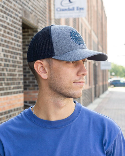 FISH HIPPIE Men's Hats CHARCOAL / one size Fish Hippie Front Burner Hat || David's Clothing fhh5010