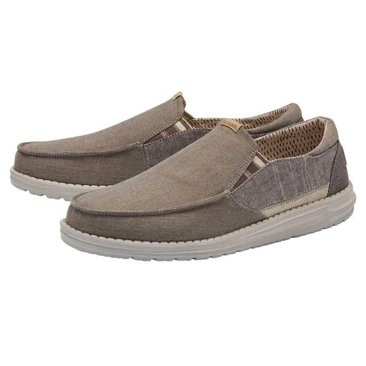 HEY DUDE Men's Shoes Hey Dude Thad Chambray - Walnut || David's Clothing