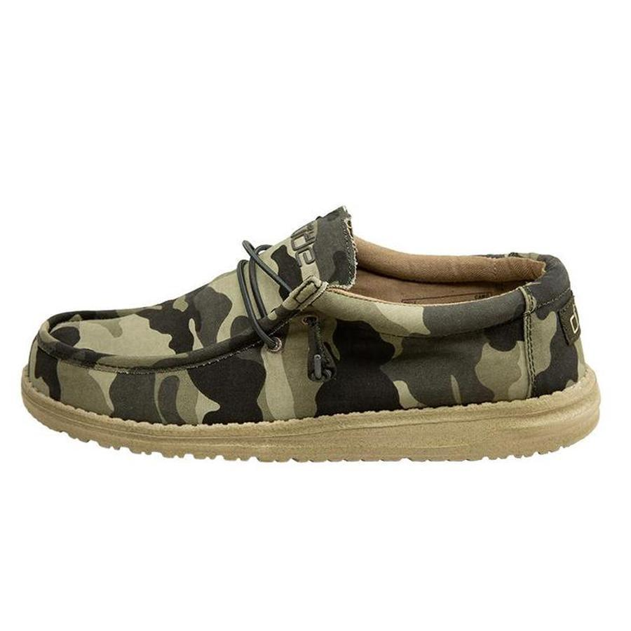HEY DUDE Men's Shoes Hey Dude Wally Canvas Camo || David's Clothing