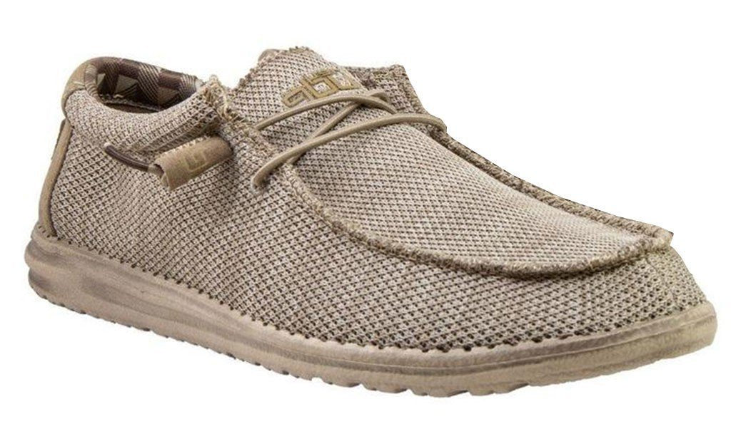 HEY DUDE Men's Shoes Hey Dude Wally Sox Classic - Beige || David's Clothing