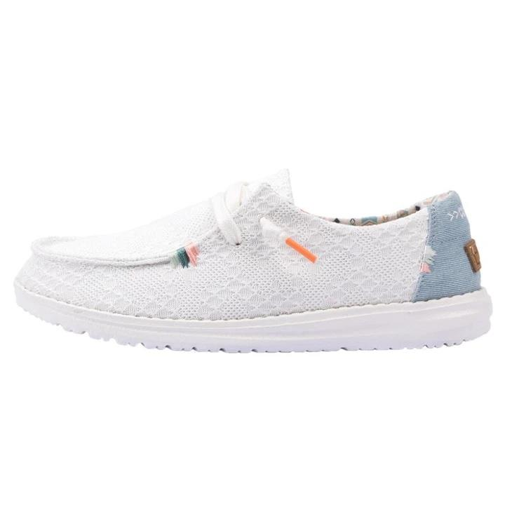 HEY DUDE Women's Shoes Hey Dude Wendy Boho - White Crochet || David's Clothing