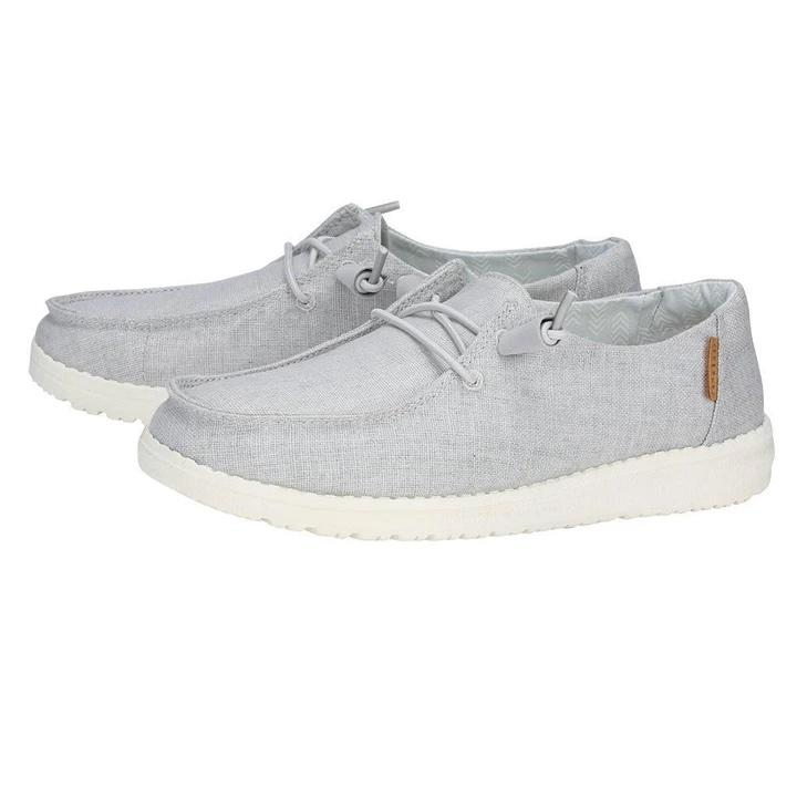 HEY DUDE Women's Shoes Hey Dude Wendy Chambray - Light Grey || David's Clothing