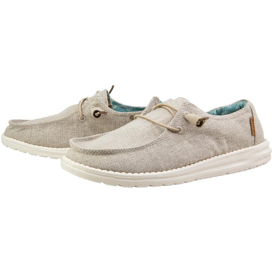 HEY DUDE Women's Shoes Hey Dude Wendy Linen Chambray Beige || David's Clothing