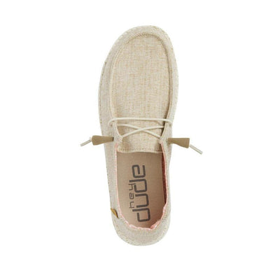 HEY DUDE Women's Shoes Hey Dude Wendy Linen Nut Chambray || David's Clothing